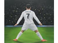 "CR7 Ronaldo - 'The Goal machine!' - Original Acrylic Painting - 22 "" x 18 """