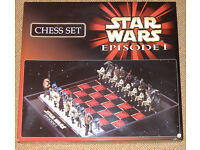 Star Wars Ep-1 chess set. In excellent condition never used and in original box.