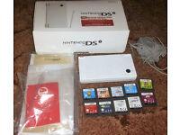 Nintendo DSi White Console Boxed & 10 Nintendo DS Games