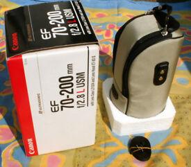 CANON EF 70-200MM F2.8L NON IS USM LENS & UV FILTER