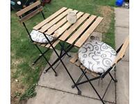 Bistro garden set table and chairs