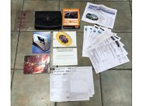 RENAULT FULL SERVICE HISTORY WITH WALLET FULLY STAMPED SERVICE BOOK HANDBOOK OWNER MANUALS RECEIPTS