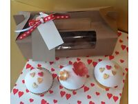 Personalised Valentine Cup Cakes