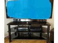 TV stand with bracket.