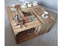 4 the best quality wooden crates Rustic – Strong and thick wood