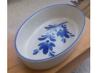 Serving/ oven ceramic dish (fine example of the Viana do Castelo pottery, Minho region of Portugal)