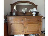 Antique Oak Sideboard Unit - VGC