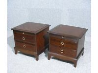 X2 stag bedside tables