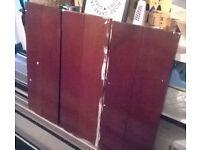 3 wooden shelves