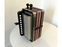 Melodeon Accordion Hohner HA-112 * German made. Rare two voice in key of A.* Great for Pipe Tunes!