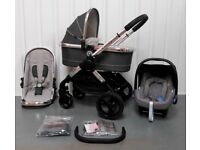 iCandy Peach 3 Truffle Travel system.2017 Model Leathere Handle