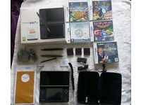 Brown Nintendo DSi XL with Matching Accessory Kit and 5 games