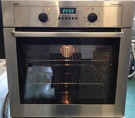 AEG single oven stainless steel