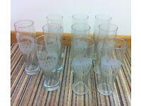 10 Amstel pint glasses £5