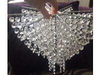 x2 Crystal Beaded Light Fittings