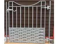 Brand new wrought iron gates come with adjustable gate hangers