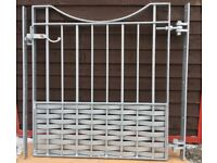 Brand new wrought iron gates come with adjustable gate hangers.