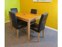 4 Dining chairs and table wooden faux leather FREE DELIVERY WITHIN LEICESTER