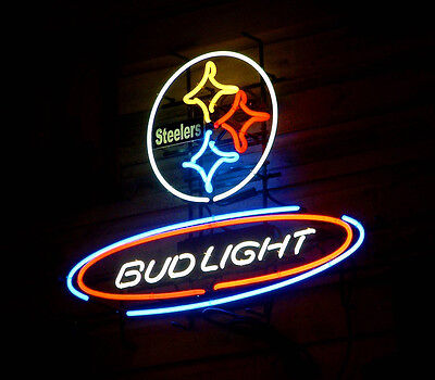 Pittsburgh Steelers Nfl Neon Sign - New Bud Light Pittsburgh Steelers NFL Neon Sign 24