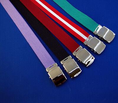 New Big Canvas Webbing Belt 2xl 3xl 4xl 5xl 6xl 7xl Navy Green Red white Lilac