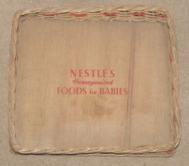 Vintage Wicker Tray advertising Nestle's Homogenised Foods for Babies