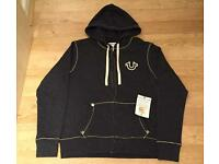 Brand new with tags. Authentic Men's large grey True Religion Hoodie. Mint condition.