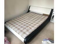 Double bed frame with new mattress