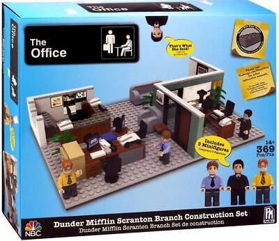 The Office Dunder Mifflin Scranton Branch Construction Set w/3 Figures Lego Set