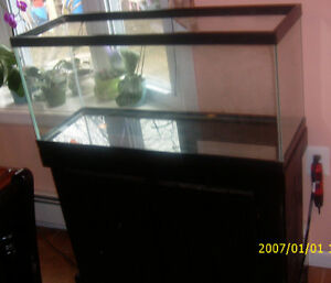 30 gallon glass aquarium amp wooden stand 30 gal fish tank Thirty gallon fish tank