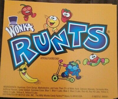 Original Wonka Runts Candy Insert Gumballs Bulk Vending Machine Product Display