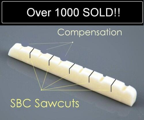 AxeMasters SB Concept / COMPENSATED BONE NUT made for Fender Guitar Strat Tele