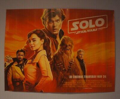 "Solo: A Star Wars Story, Original Quad Cinema Poster 30"" x 40"""