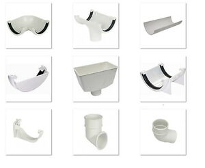 New-Floplast-Plastic-White-Round-Gutter-and-Guttering-Down-Pipe