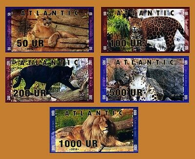Set  Atlantic Bank 50 100 200 500 1000 Ur 2016  Private Issue Unc   Cats