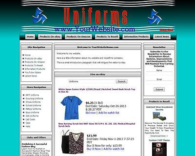 Uniforms Shop. Make Money Online Sell Military Clothes Website Domain For Sale
