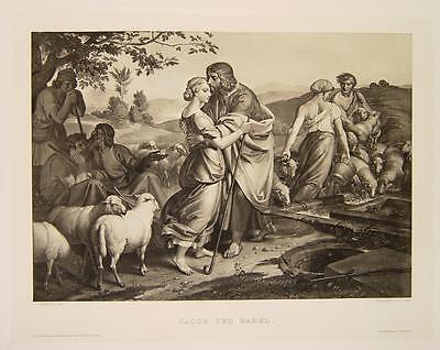 Joseph v.Führich Wien Kratzau Jakob Jacob Rahel Hirten Schafe Brunnen Lea Israel