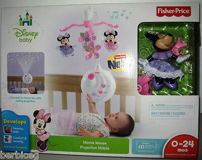 Fisher price disney baby minnie mouse projection crib mobile brand new - Minnie mouse mobel ...