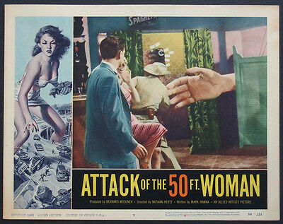 ATTACK OF THE 50 FT. WOMAN GIANT HAND SCIENCE FICTION 1958 LOBBY CARD #7