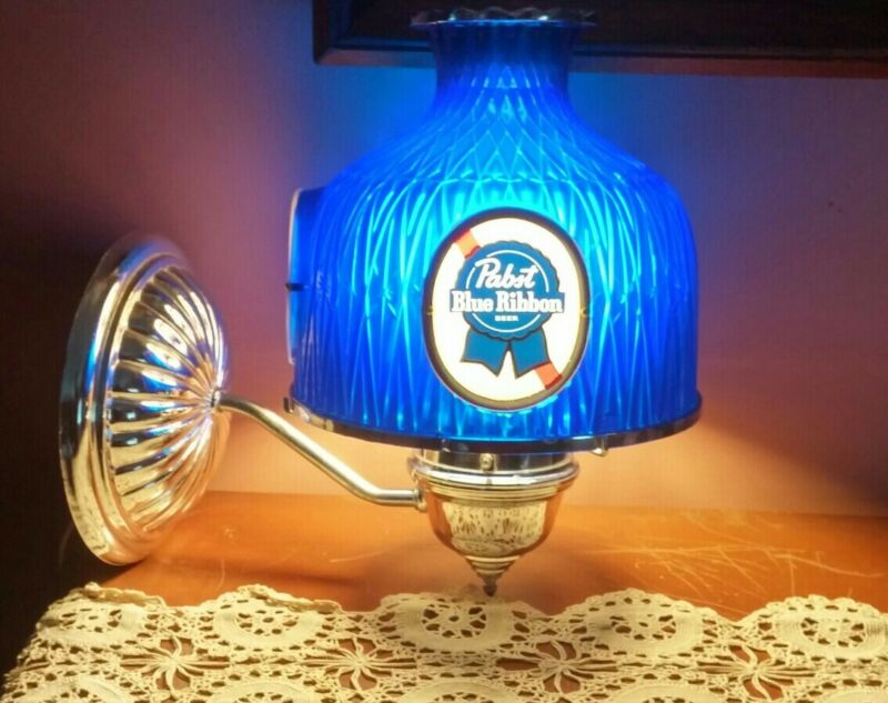 Vtg Pabst Blue Ribbon Wall Sconce