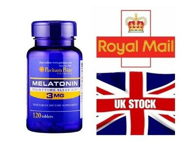 EXTRA STRENGTH 3mg x120 Sleeping Pills Sleep Aid Tablets 2-3 day UK delivery