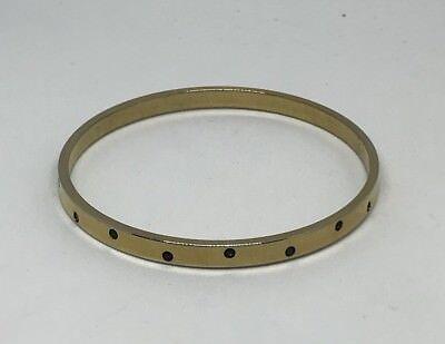 (Swarovski Bangle Bracelet Gold Tone Rhinestone Red Green Signed Authentic)