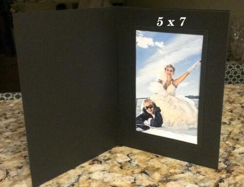 5x7 Black Photo Folders - Pack of 25