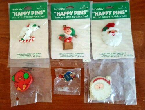 Hallmark Christmas Lapel Pin Lot 3