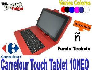 Funda con teclado para tablet carrefour touch tablet 10neo - Fundas para nordicos carrefour ...