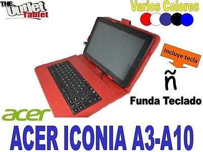 FUNDA CON TECLADO PARA TABLET ACER ICONA A3-A10 VARIOS COLORES A3 A...