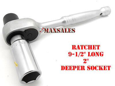New Scaffold Ratchet Wrench 6 Point 78 Deep Well Socket