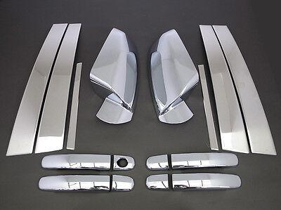 2010-2017 Chevrolet Equinox Chrome Door Handle+Pillar+Mirror Cover