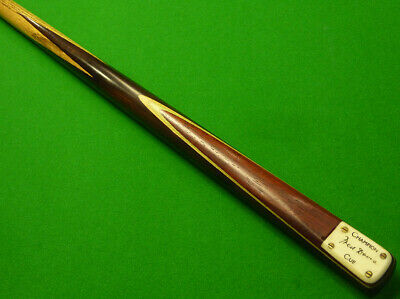 1pc Fred Davis Snooker Cue - Ash shaft and Macassar Ebony butt - Made by Peradon