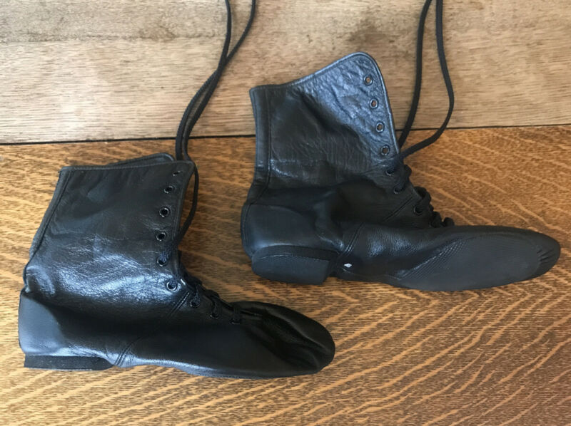 Bloch S0400L Women's Ultraflex Boot Black Leather Dance Jazz Lace Up Size 7.5