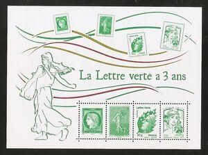 2014 Bloc N° 4908 LA LETTRE VERTE A 3 ANS **LUXE - France - Type: Timbres Qualité: TTBE Année d'émission: 2001 et aprs Année d'Emission: 2014 - France